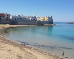 The beaches of Gallipoli (Lecce) in Puglia are a great view. Everybody loves them! :-)