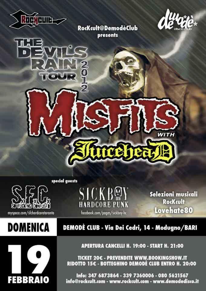 Misfits - Concerti Metal a Bari - Heavy Metal in Puglia