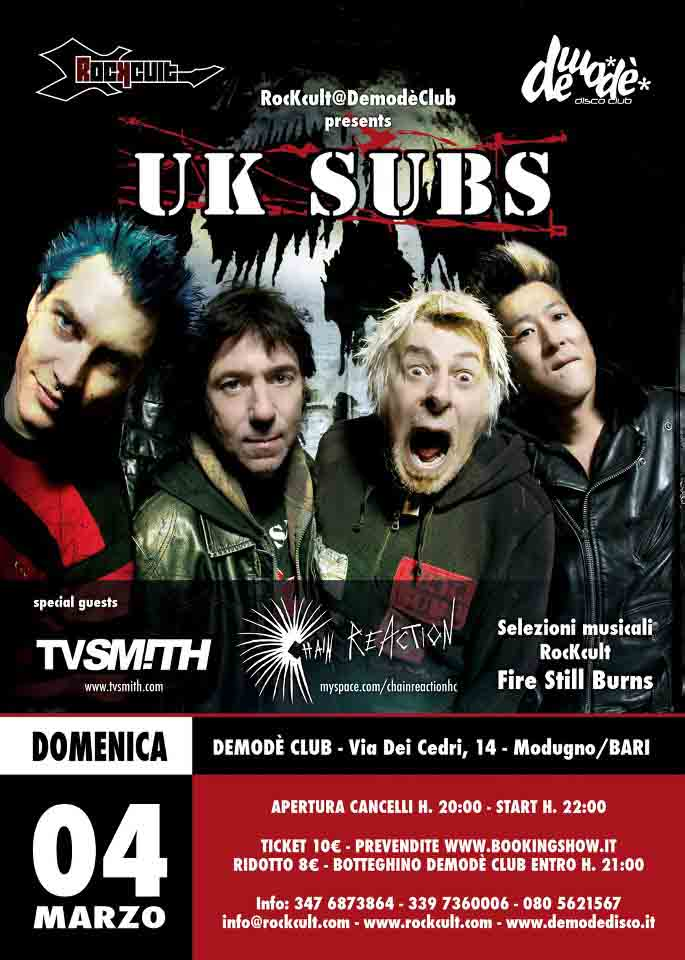 Uk Subs Live a Bari - Musica Live Metal Bari e Dintorni
