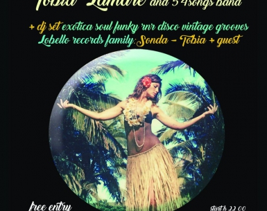 Hawaiian Party live soul surf rock di Tobia Lamare&54songs band + djset Tobia Lamare e Sonda al PIPA